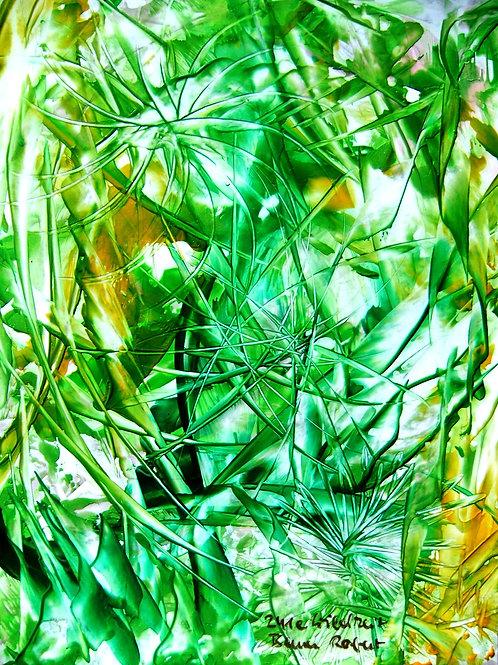 241e Wildheit, Original, abstraktes Bild, ca. 21 cm * 30 cm
