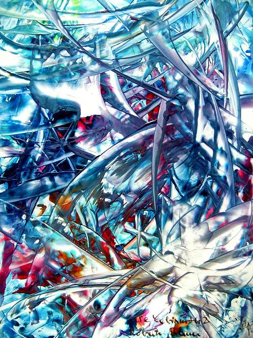 215e Labyrinth2, Druck, abstraktes Bild, ca. 21 cm * 30 cm