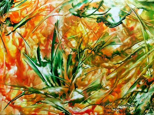 237e Brennender Amazonas, Original, Landschaftsbild, ca. 21 cm * 30 cm