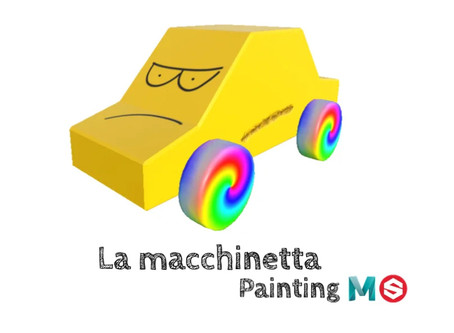 La macchinetta - Painting