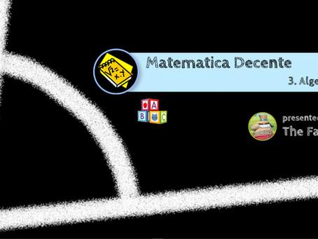 Matematica Decente -  3. Algebra