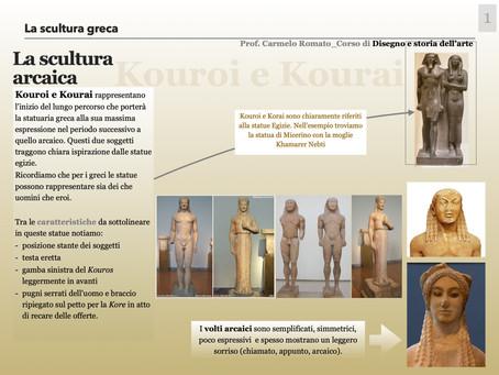 LA SCULTURA GRECA. IL PERIODO ARCAICO, CLASSICO ED ELLENISTICO.