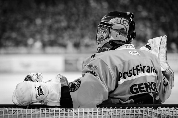 Eishockey in Schwarz-weiss