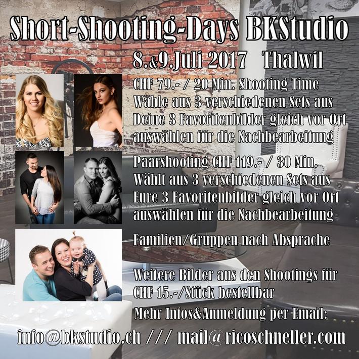 Short Shooting Days @ BK Studio Thalwil