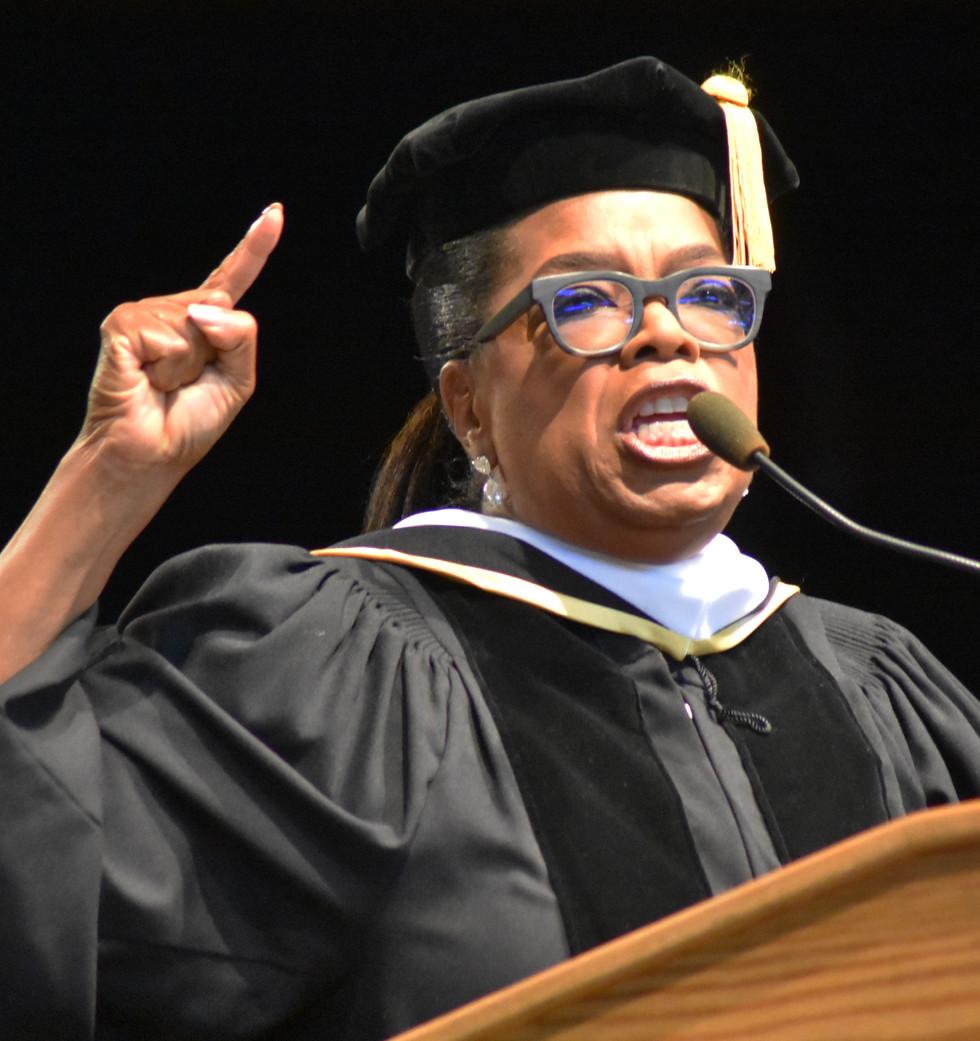 Oprah Winfrey at Skidmore College in 2017