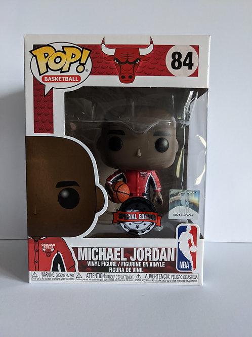 Michael Jordan Bulls warm up 84