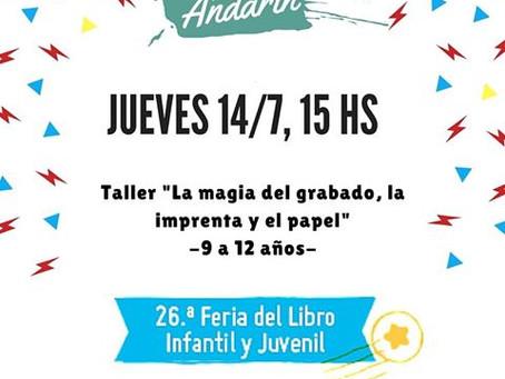 Arte Andarín en la Feria del Libro Infantil.