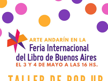 Arte Andarín en la Feria del libro.