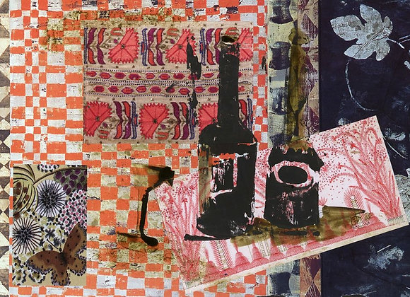 Collage et linogravure