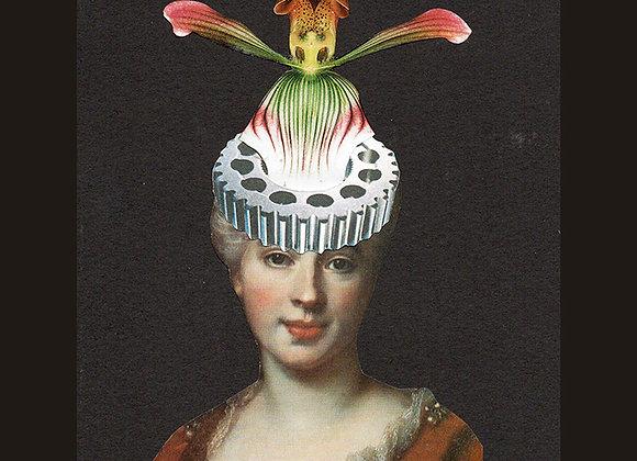 Print La coiffe fleur et roulements