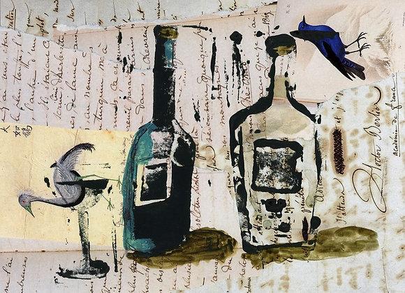 Les bouteilles et l'oiseau