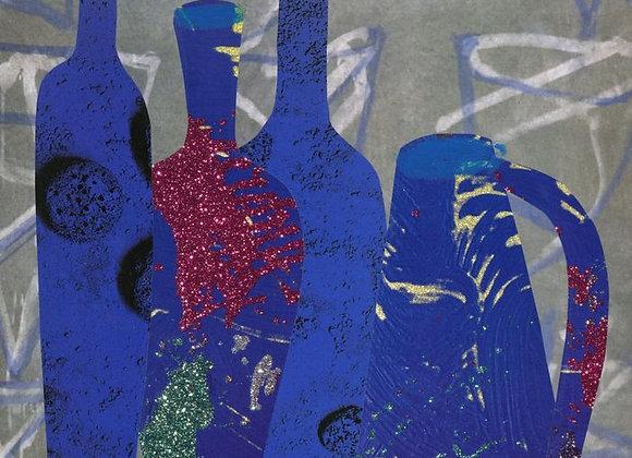 Les bouteilles bleues