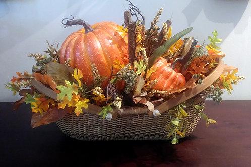 Nantucket Basket - Pumpkins