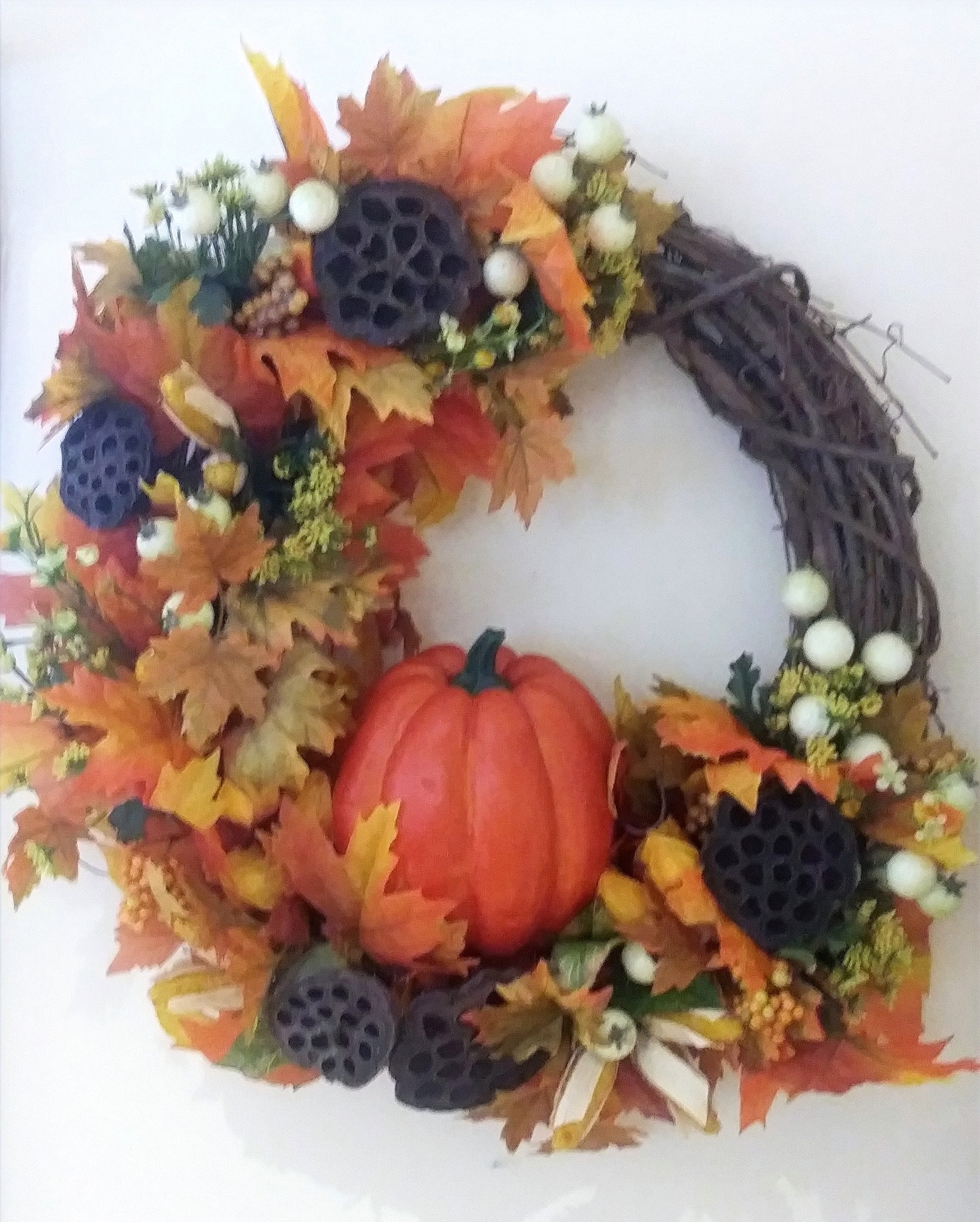2-417 Fall Grapevine Wreath