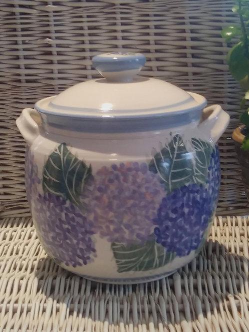 Cookie Jar with Hydrangeas