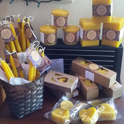 NEW!  JUST IN!!! Bees Wax Candles, handc