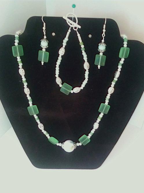 Sea Glass Jewelry Set