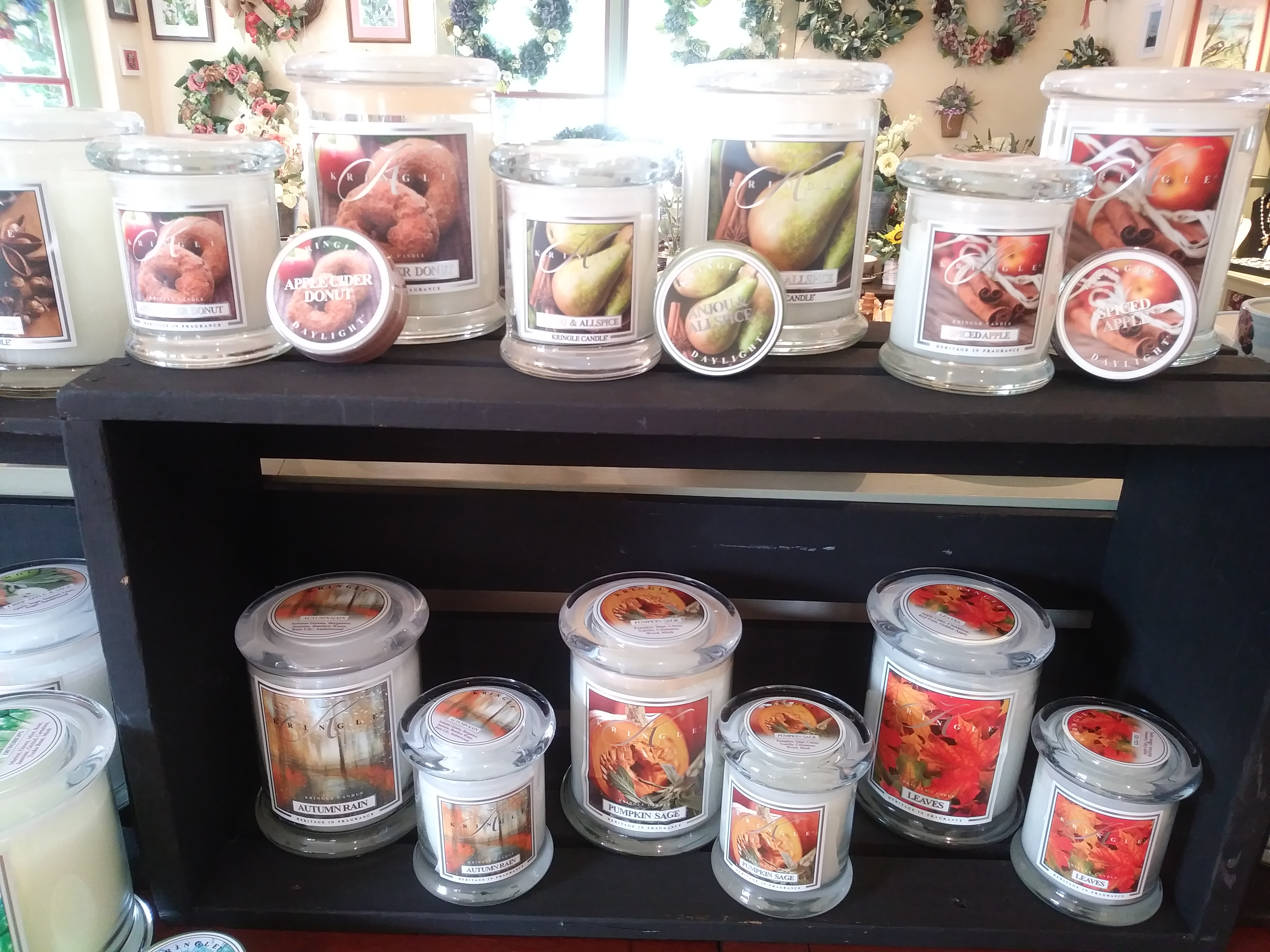 Fall candles from Kringle Candle