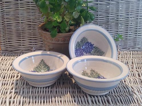 Bowls with Rim / Hydrangeas