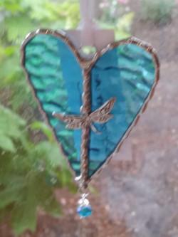 PineTree Glassworks - Heart w/dragon