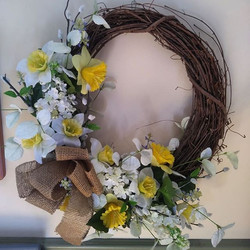 Spring Grapevine wreath by Coventry Craf