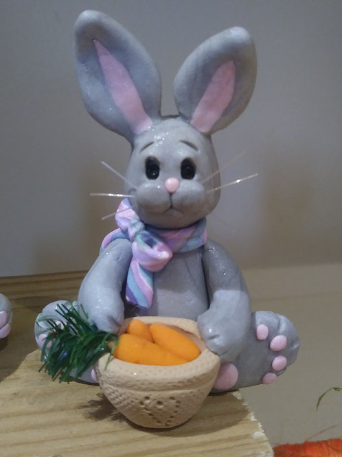 Easter Bunny with Carrots