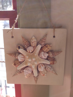 shell hanging - cream