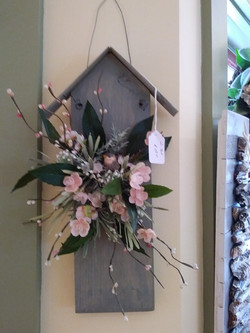 Hanging _birdhouse_ by Linda Billman