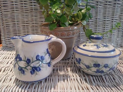 Sugar & Creamer Set-Blueberries