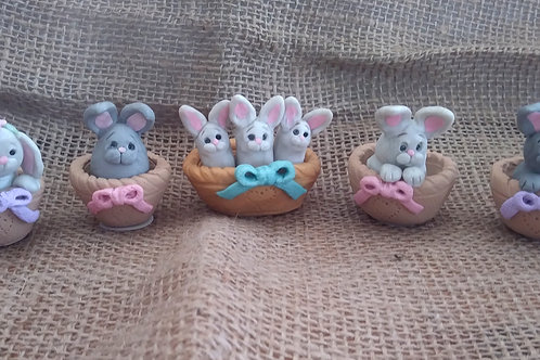 Bunnies in Baskets