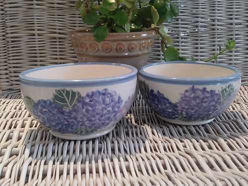 Cereal/Soup Bowls - Hydrangeas