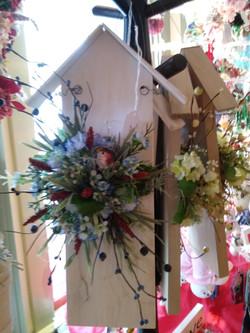 Hanging _birdhouses_ by Linda Billman