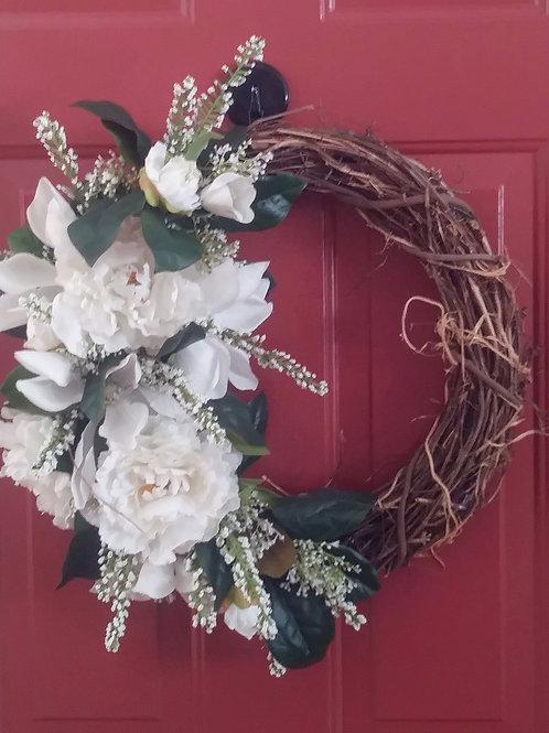 Peony & Magnolia Wreath