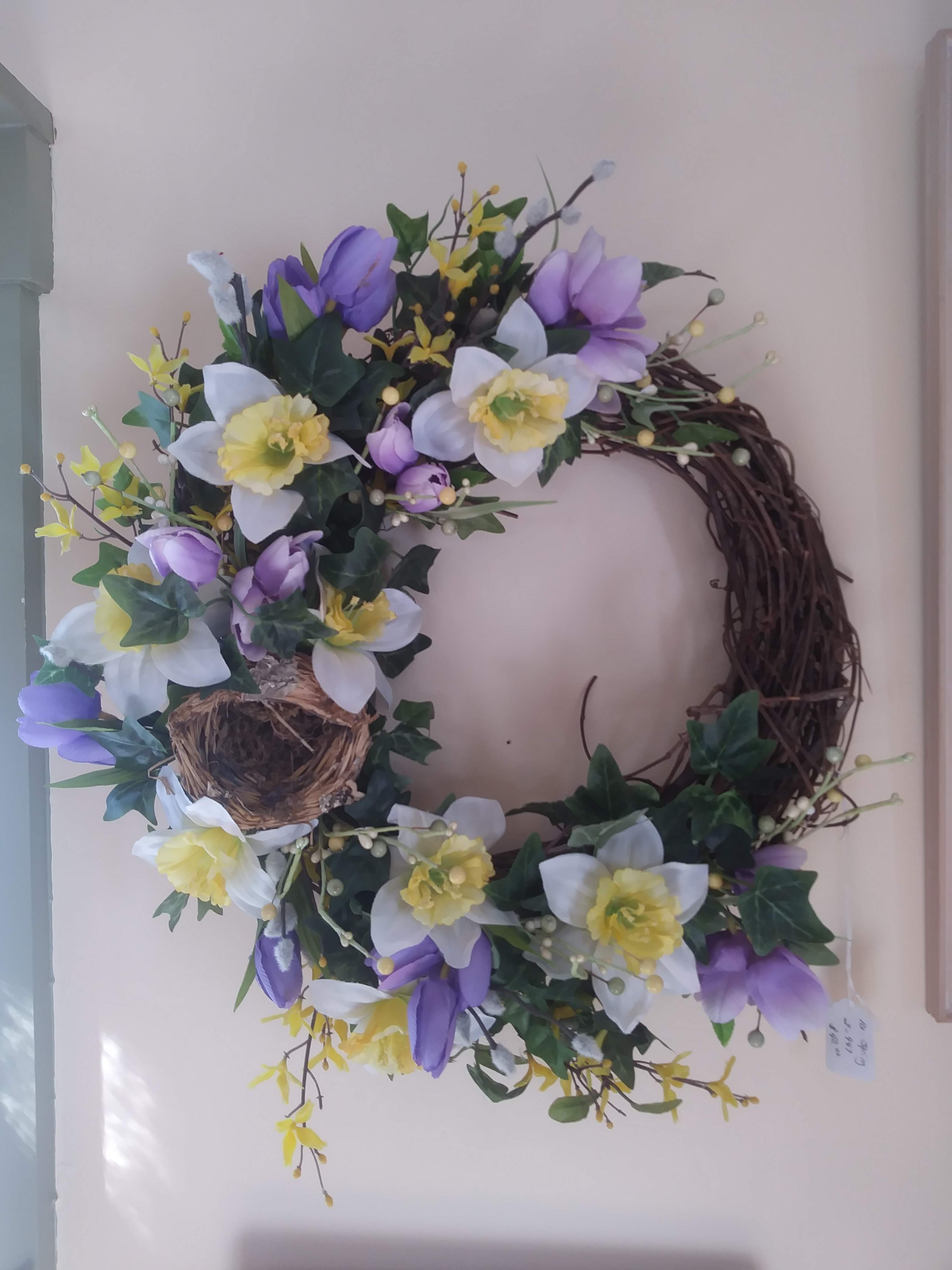 Spring wreath from Coventry Craftss