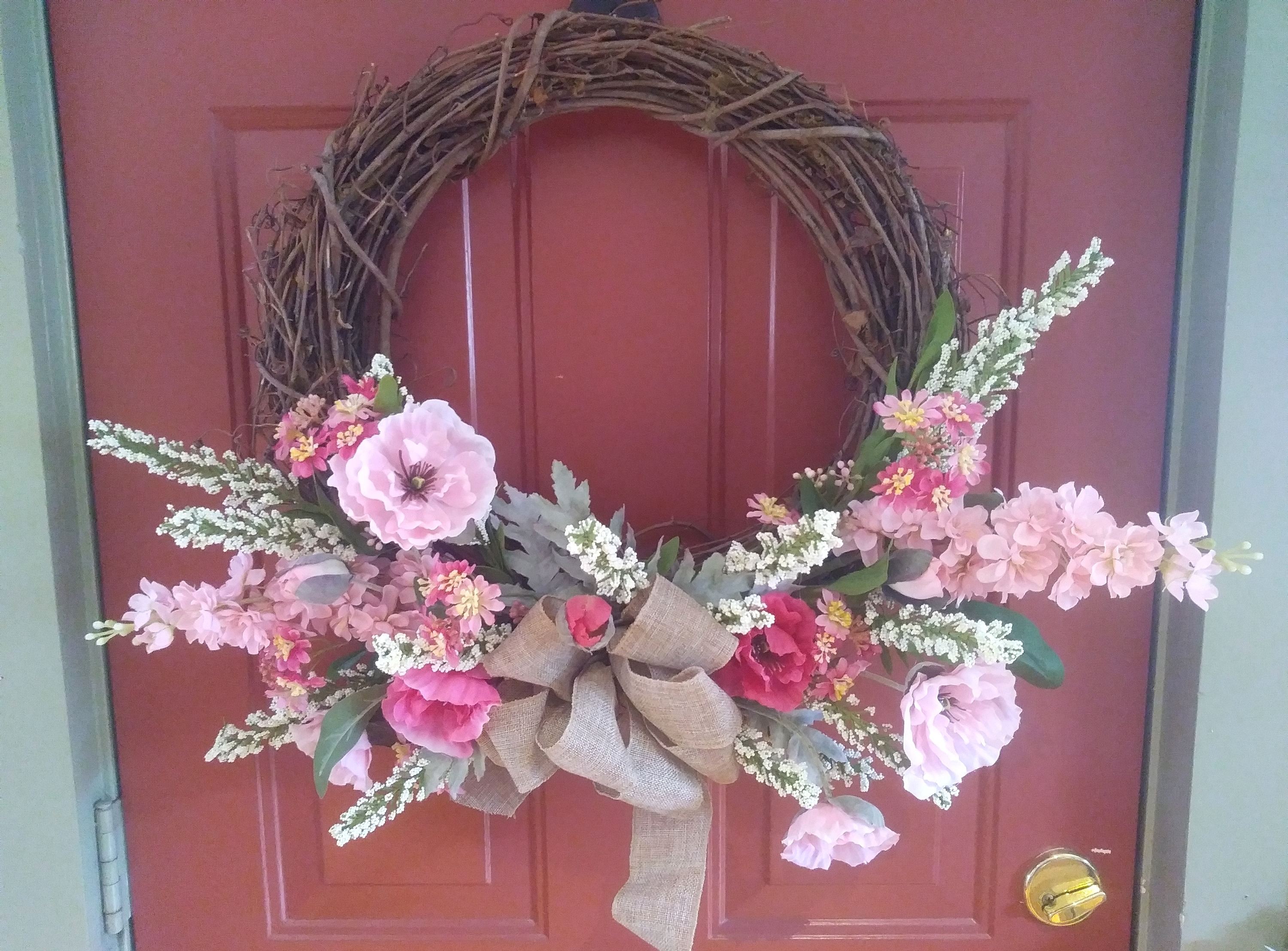 Pink Poppy Wreath