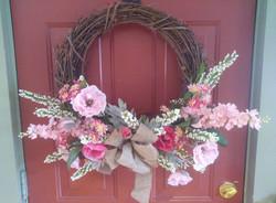 Pink Poppy Wreath