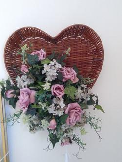 Wall heart - pink