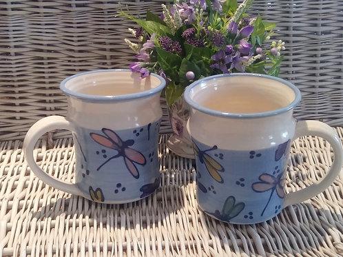 Tavern Mugs/dragonflies