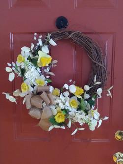 Spring Wreath - daffodils