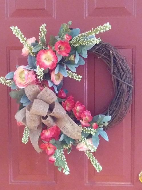 Hollyhock Wreath
