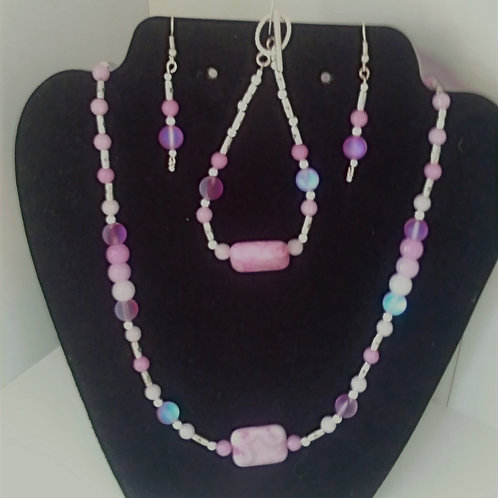 Lavender Stone Jewelry Set