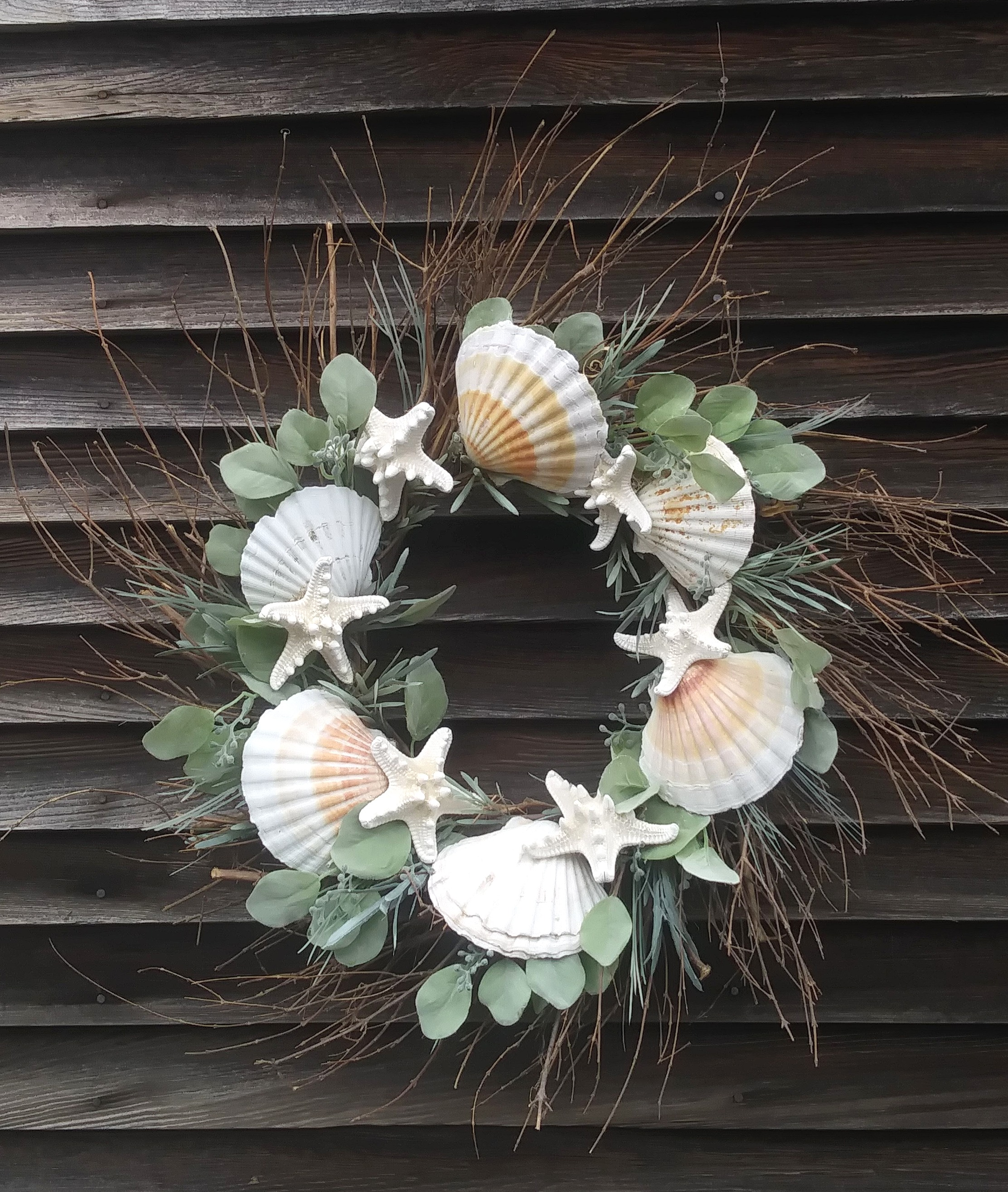 Scallop & Starfish Wreath