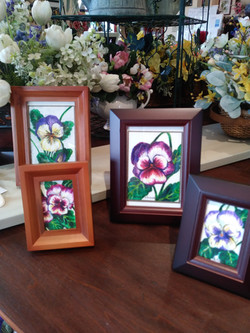 Watercolor pansies by Deb Hart-Chase