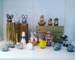 Spring & Easter clay figurines by V