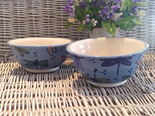 Cereal/Soup Bowls - Dragonflies