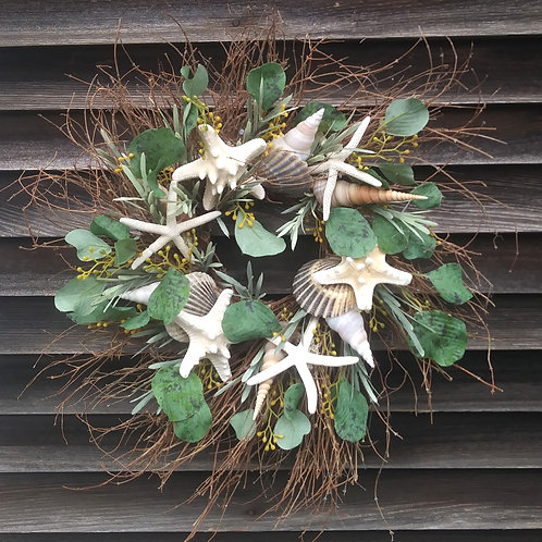 Twig Shell Wreath