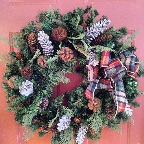 Christmas Wreath - Pine Cones