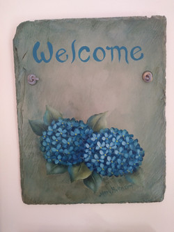 Welcome slate by Tole Sampler