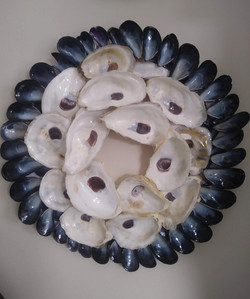 Oyster _ mussel wreath