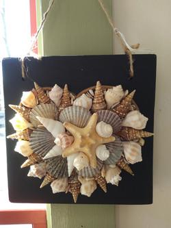 Shell heart  hanging-black